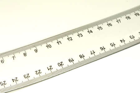 retraining: A ruler on white background Stock Photo