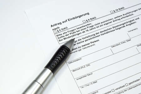 forgery: Application for Naturalization Germany