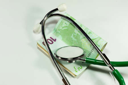 pracitioner: Stethoscope and money