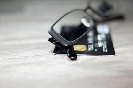 bankcard: Glasses and credit card