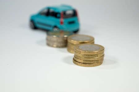Coûts de maintien de la voiture Banque d'images - 52324814