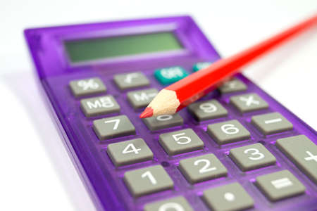household money: A red pen and a calculator