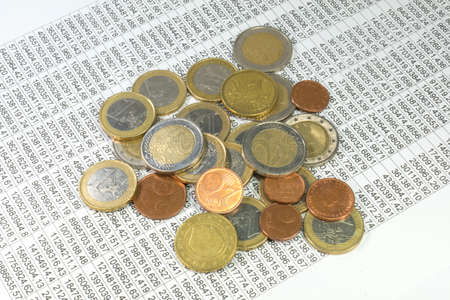 contributions: Statistics and money Stock Photo