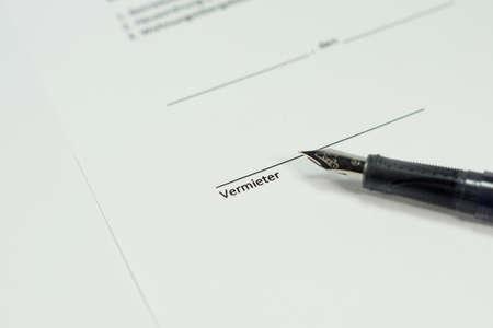 lease: lease signature Stock Photo