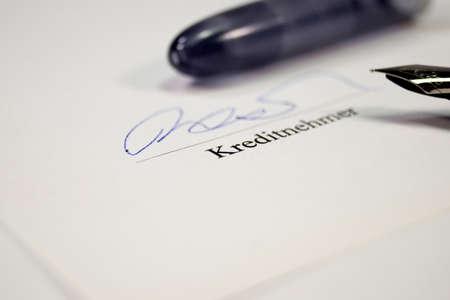 signature: Signature loan agreement