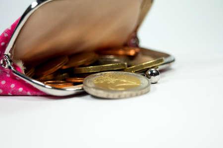 money in the pocket: Carpeta con el dinero de bolsillo Foto de archivo
