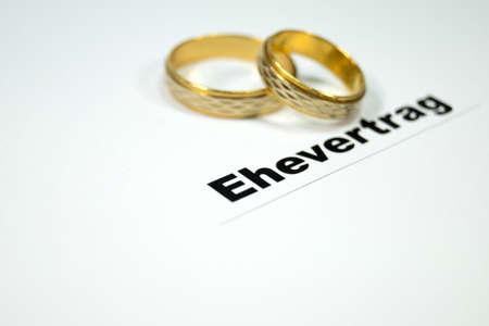 Marriage settlement Archivio Fotografico