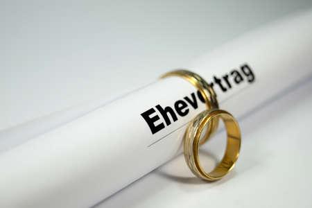 Marriage settlement Stockfoto