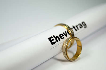 Marriage settlement Stock Photo