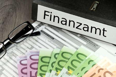 Déclaration d'impôt allemand Banque d'images - 55137375