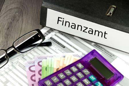 Déclaration d'impôt allemand Banque d'images - 55136687
