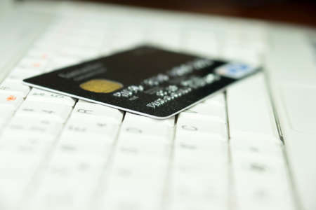 trojans: credit card and computer Stock Photo