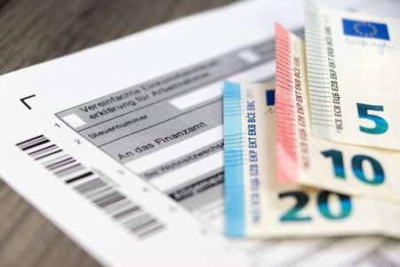 Tax return form