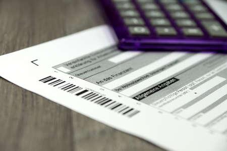 budgetary: Tax return form