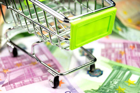 budgetary: Shopping cart and cash