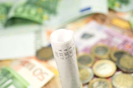 receipt: A receipt and cash