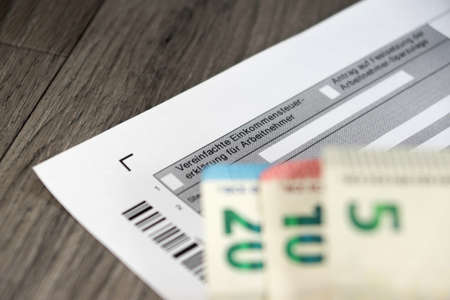 economic activity: Tax return form