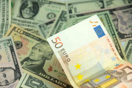 exchange rate: Exchange rate Euro Dollar Stock Photo