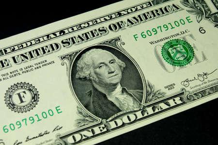 cuenta: billete de un dólar