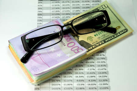 Exchange rate Euro Dollar Reklamní fotografie