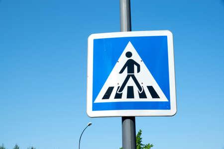 Voetverkeersteken Stockfoto