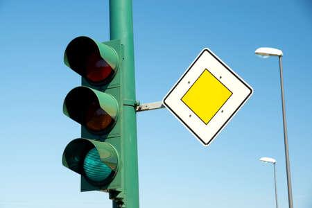 Lichtsignalering en rij-prioriteit