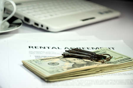 rental: A rental agreement Stock Photo