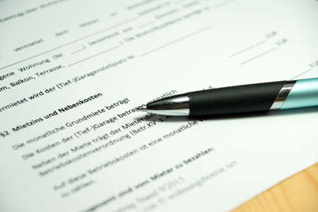 rental: German rental agreement Stock Photo