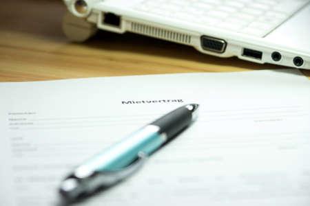 German rental agreement Banque d'images