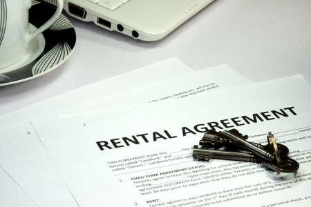 rental: rental agreement and keys