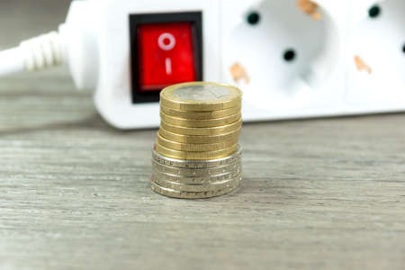 electricity providers: An electrical outlet and money