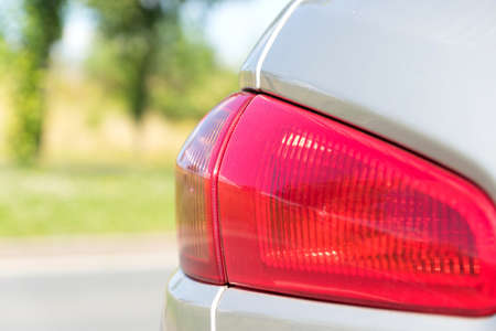 taillight: A rear light on Car