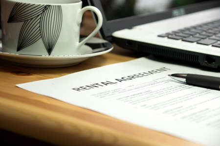 rental: A rental agreement Stock Photo