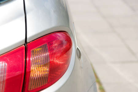 taillight: The rear lamp of a car