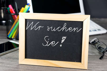 Chalkboard with a job offer