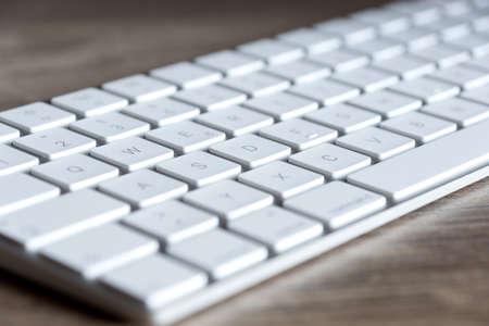 A white computer keyboard