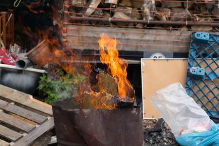 pollutants: Illegal waste incineration