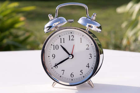 Alarm clock on the table