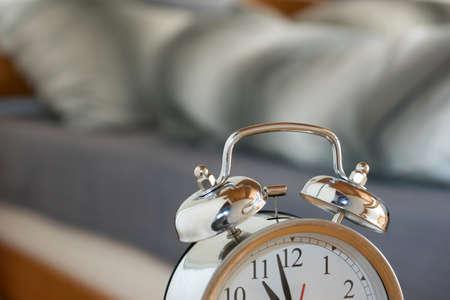 Alarm clock at bed