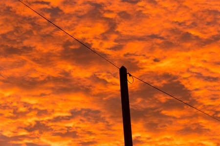 electricity tariff: High voltage pylon against the sky Stock Photo