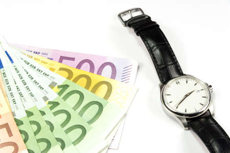 indebtedness: Euro money and watch