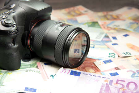 photo album: Camera and euro money