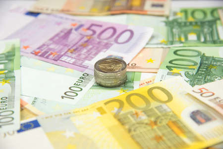 indebtedness: Euro banknotes and euro coins