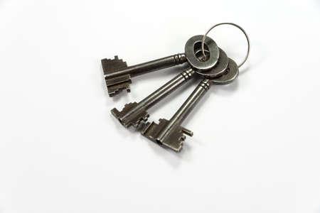 key on a white background