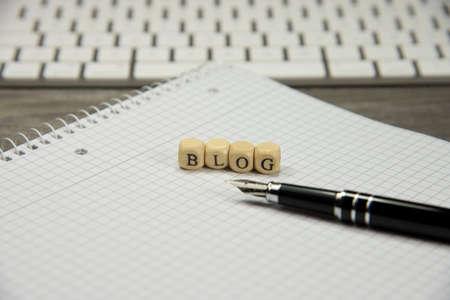 Keyboard, notebook and blog