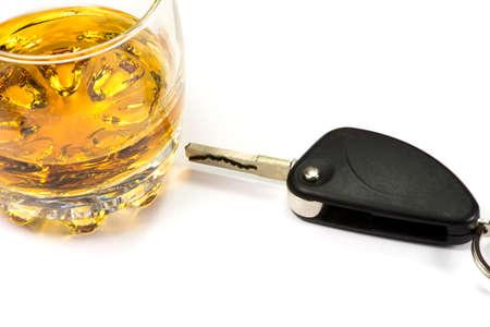 Car key and alcohol