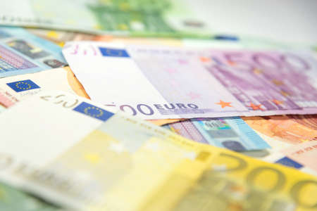 indebtedness: Stacked euro money