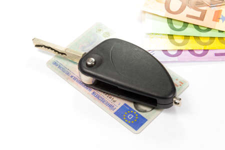 probation: A German driving license, car keys and euro money