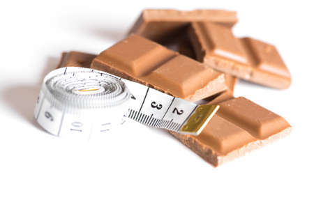 Chocolate and a measuring tape