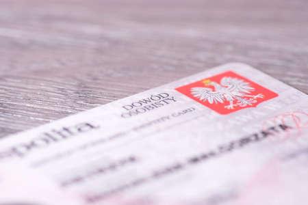 personalausweis: Eine polnische ID-Karte